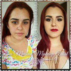 Makeup  #makeup #redlips #beforeandafter #wedding
