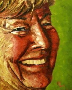 Portrait 1509E - Morris Painting 16x10 Oil on Panel