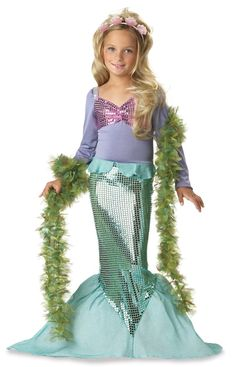California Costumes Toys Little Mermaid Costume -- Kids Dressing Up & Costumes New Releases 24 Hour Deals Buy Five Star Products With Up To Discount Mermaid Halloween Costumes, Ariel Costumes, Hallowen Costume, Dress Up Costumes, Halloween Costumes For Girls, Halloween Kostüm, Costumes Kids, Halloween Carnival, Cosplay Costumes