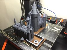 Hogwarts School of Witchcraft and Wizardry (Castle Part 1 of - Harry Potter Print by 3d Printing Sites, Castle Parts, 3d Printer Designs, Witchcraft, Hogwarts, Projects To Try, Harry Potter, Dreams, Printed