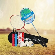 Badminton Racket 2 Loaded Sports Outdoors Badminton Racquets (Red-34-0.5)