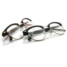 SALE Vintage Optical Clubmaster Wayfarer Glasses 2946 [2 Pack]