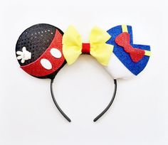 Mickey and Donald Ears Mickey Mouse Ears by ToNeverNeverland