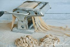 This Whole Wheat Sourdough Pasta is made with properly soured or sprouted wheat for a fresh pasta meal that is nourishing and comforting. Whole Wheat Sourdough, Sourdough Pizza, Sourdough Recipes, Bread Recipes, Buttered Cabbage, Cabbage And Noodles, Butter Crackers, Pasta Machine, Burger Buns