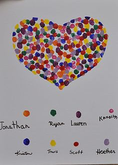 fingerprint heart - communie idee