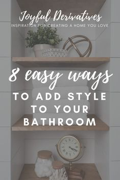 Easy Ways to add Style to your Bathroom / bathroom ideas / small bathroom ideas / bathroom ideas on a budget / DIY bathroom ideas / apartment bathroom ideas / master bathroom ideas / farmhouse bathroom ideas / bathroom decor / bathroom decor plants / bathroom decor ideas / rustic bathroom decor / bathroom remodel