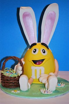 Easter M Character Cake by Twisted Sugar,
