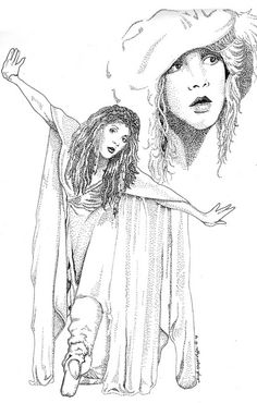 Stevie Nicks Stipple by Tanya Knight Ruffin