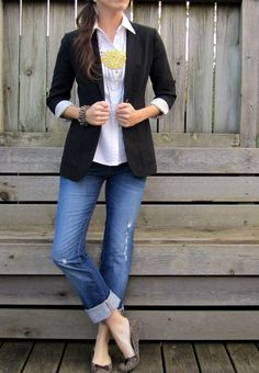 Collar, blazer, distressed.