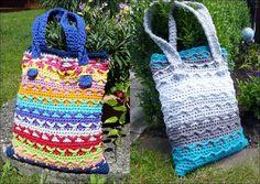 Taschen kann Frau nie genug haben. Bunte Häkeltasche, idealer Begleiter zum Shoppen, Baden, Einkaufen ...... uvm.