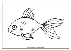 Goldfish Colouring Page 2