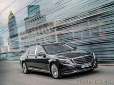 Седан Mercedes-Maybach S класса 2016 / Мерседес-Майбах S класса 2016 – вид спереди сбоку