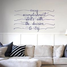 Accomplishment' motivational wall sticker in Home by Vinyl Impression