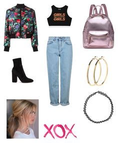 A fashion look from October 2016 featuring cropped tank top, flight jackets and blue jeans. Browse and shop related looks. Cropped Tank Top, Crop Tank, Tank Tops, Msgm, Blue Jeans, Boohoo, Polyvore Fashion, Valentino, Topshop