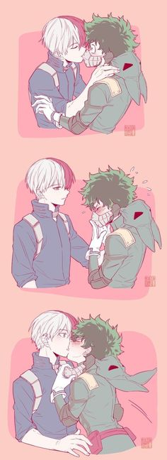 My Hero School (Manga / Comics / Ships / Other) . - My Hero School (Manga / Comics / Ships / Other) - My Hero Academia Shouto, Hero Academia Characters, Boku No Academia, Manga Comics, Anime Outfits, Lgbt Anime, Deku X Kacchan, Hero Wallpaper, Cute Comics