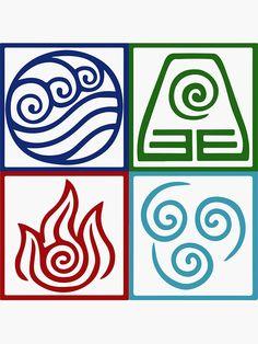 Avatar Tattoo, Pablo Picasso Drawings, Element Symbols, Alchemy Symbols, Witch Tattoo, Japanese Symbol, Anime Crafts, Elements Of Art, Stencil Designs