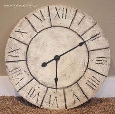 COUNTRY GIRL HOME: Large wall clock re-do