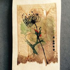 363 days of tea. Day 64. #recycled #teabag #tea #art #artdaily #painting #journal #organic