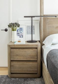 Add some Mid-Century Modern style ideas to your bedroom with these easy to build DIY nightstand plans. #nightstand #diynightstand #midcenturymodern