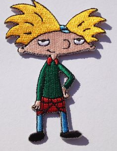 Hey Arnold Embroidered Iron on Patch / Rare by PatchWorld on Etsy, €5.00