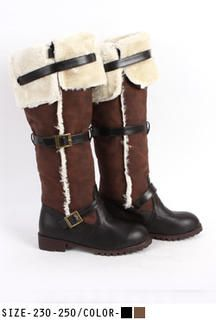 Buy 'UUZONE – Fleeced-Line Buckled Boots' with Free International Shipping at YesStyle.com. Browse and shop for thousands of Asian fashion items from South Korea and more!