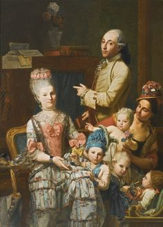Giuseppe Baldrighi (1723 - 1802) - Portrait of Antonio Ghedini and his family