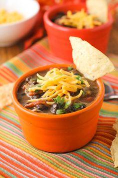 Three Bean Chili. Warm and comforting! #chili, #bean, #vegetarian