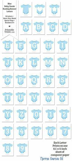 Babyshower boy Trajesitos azul con letras