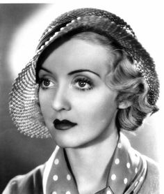 Bette Davis - American actress of film, television and theater. A strong woman and a class act.