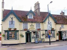 Swan Pub, Needham Market - used to catch the bus to school in front of this pub.  Never realized this but it was built in 1620.  Great fish and chips just down from it