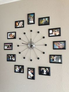 unique wall decor ideas with clocks 36 ~ mantulgan.me unique wall decor ideas with clocks 36 ~ mantulgan. Frame Wall Collage, Collage Picture Frames, Frames On Wall, Picture Wall, Photo Collages, Collage Ideas, Big Picture, Picture Ideas, Collage Collage