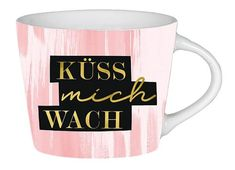 Goldtasse Espresso / Schreibkram Manufaktur Küss mich wach 23390537 kika.at Love Is In The Air, Espresso, Mugs, Tableware, Quails, Romantic Ideas, Stocking Stuffers, Valentines Day, Espresso Coffee