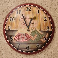 $24.99 Wooden Clock Requires 1 AA Battery. Cute Home Decor for any room.