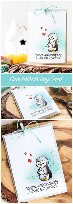 Cute Father's Day card. Find out more by clicking on the following link: http://limedoodledesign.com/2016/05/cute-fathers-day-card/