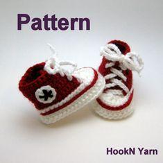 Crochet Pattern Baby Converse Pattern Converse by HookNYarnCrochet