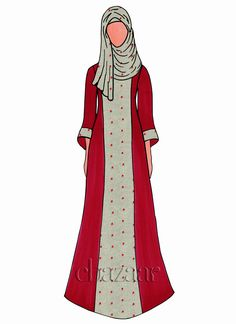 Buy Tango Red Georgette Abaya online, SKU Code: This Red color abaya for Women comes with Printed Faux Georgette. Shop Now! Diy Fashion Dresses, Hijab Fashion, Dress Sketches, Fashion Sketches, Ethnic Fashion, Fashion Art, Islamic Clothing, Tango, Red Color
