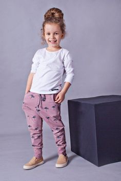 6511083d1ceb7b Handmade kids trousers FLAMINGOS. Toddler pants. Pink pants. Girl pants.  Cotton clothes