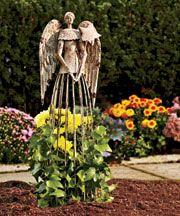 Antiqued Metal Garden Angel