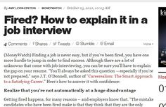 Fired? How to explain it in a job interview