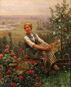 Daniel Ridgway Knight (American-born French genre painter, 1839-1924)
