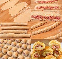Saladitos de jamón cocido y queso