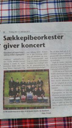 Gladsaxe bladet  Koncert i Søborg d. 1.  marts 2015