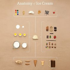The Anatomy of Ice Cream by Small Batch Creative #icecream #food #infographic…