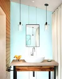 Hanging Mirror From Ceiling Google Search Rustic Bathroom Lighting Bathroom Pendant Bathroom Pendant Lighting