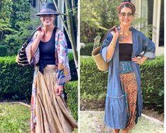 12 Ways to Rock Your Kimono - Ask Suzanne Bell White Kimono, Silk Kimono, Kimono Top, Wrap Dress, Dress Up, We Wear, How To Wear, Japanese Kimono, Kimono Fashion