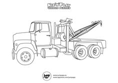 mater tow truck coloring pages - photo#23