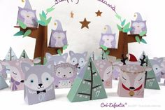Advent calendar to print – Creations for children and + – Christmas Ideas – Happy Christmas :) Simple Christmas Cards, Winter Christmas, Christmas Holidays, Happy Holidays, Advent Calenders, Diy Advent Calendar, Christmas Craft Projects, Print Calendar, Paper Ornaments