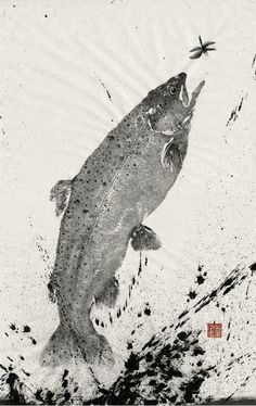 Gyotaku- fish painting impressions from real fish. Use of impressions also relevant for tracking