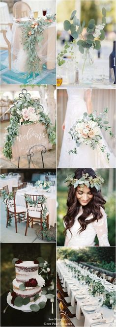 Green Eucalyptus Wedding Color Ideas / www.- Green eucalyptus wedding color ideas / www.deerpearlflow … the 2019 From the theme, decorations, flowers, … - Spring Wedding Colors, Green Wedding, Floral Wedding, Diy Wedding, Wedding Bouquets, Rustic Wedding, Wedding Flowers, Wedding Day, Budget Wedding