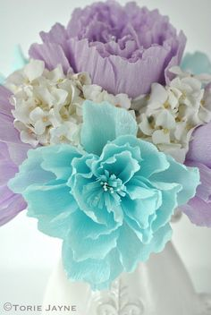 Crepe Paper Peony Flower Tutorial                                                                                                                                                                                 More
